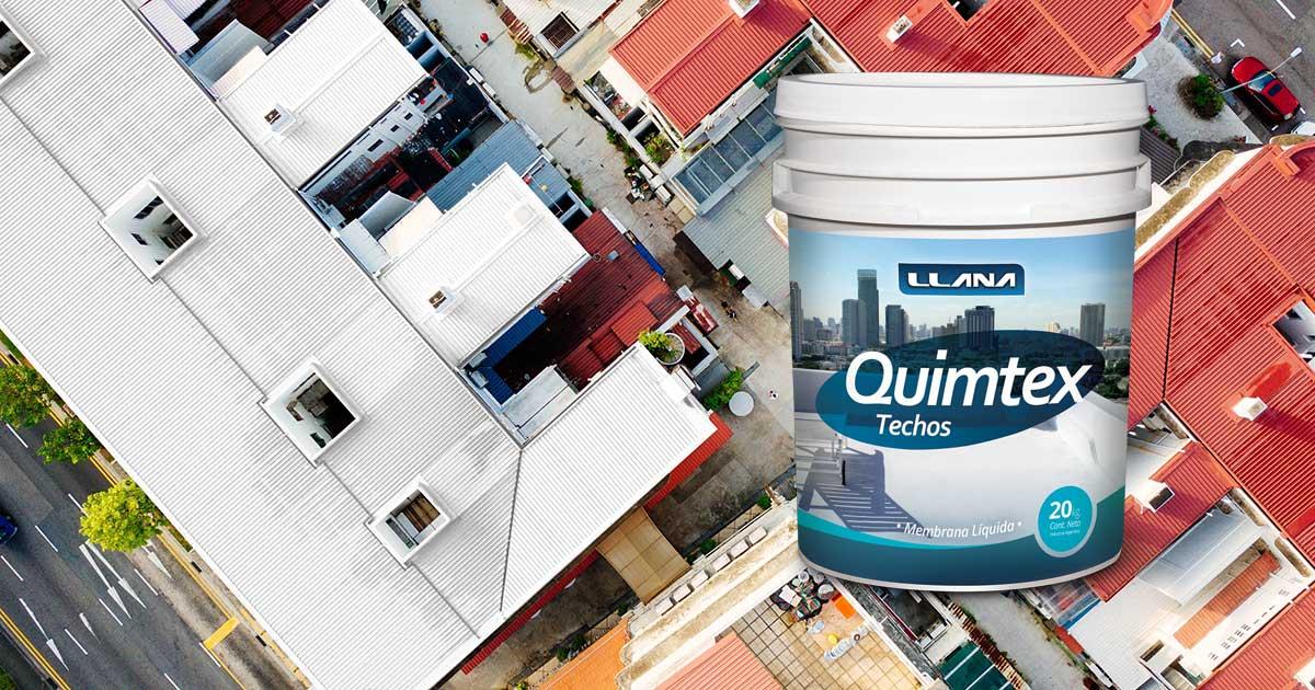 Proteja sus techos con acrilico poliuretano blanco con protección UV